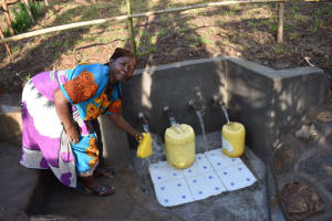 The Water Project: Eshimuli Community, Mbayi Spring -  Fetching Water