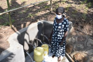 The Water Project: Eshimuli Community, Mbayi Spring -  Gladys Achieng