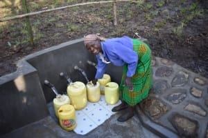 The Water Project: Eshimuli Community, Mbayi Spring -  Happy Beneficiary Of Mbayi Spring