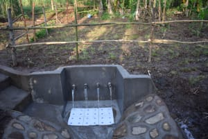 The Water Project: Eshimuli Community, Mbayi Spring -  Mbayi Spring With Protective Fence