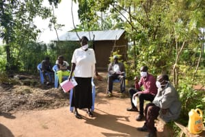 The Water Project: Eshimuli Community, Mbayi Spring -  Participant Asking A Question