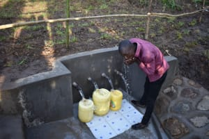 The Water Project: Eshimuli Community, Mbayi Spring -  Quenching Thirst