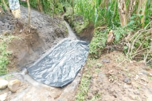 The Water Project: Eshimuli Community, Mbayi Spring -  Working Escape Channels