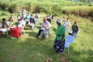 The Water Project: Mukhuyu Community, Namukuru Spring -  A Participant Asking A Question