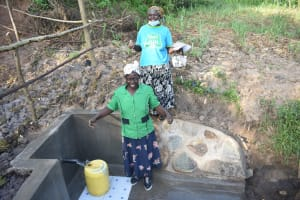 The Water Project: Mukhuyu Community, Namukuru Spring -  All Is Successful At Namukuru Spring