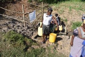 The Water Project: Mukhuyu Community, Namukuru Spring -  Already Busy Namukuru Spring