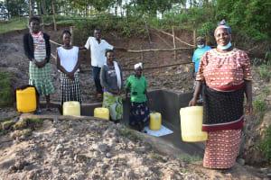 The Water Project: Mukhuyu Community, Namukuru Spring -  Beneficiries Of Namukuru Spring