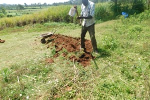 The Water Project: Mukhuyu Community, Namukuru Spring -  Construction Of The Diversion Channels