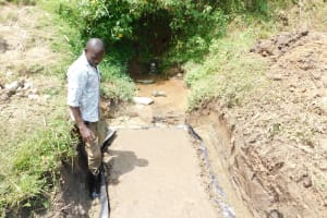 The Water Project: Mukhuyu Community, Namukuru Spring -  Construction Of The Escape Channels
