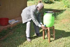 The Water Project: Mukhuyu Community, Namukuru Spring -  Hand Washing Session