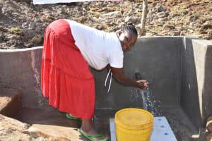 The Water Project: Mukhuyu Community, Namukuru Spring -  Keeping Hands Safe At Namukuru Spring