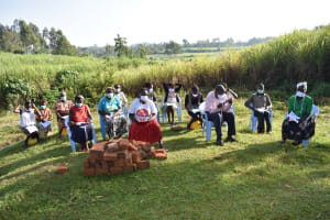The Water Project: Mukhuyu Community, Namukuru Spring -  Physical Distance Observed