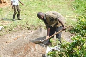 The Water Project: Mukhuyu Community, Namukuru Spring -  Setting Up Of Foundation