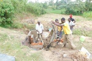 The Water Project: Mukhuyu Community, Namukuru Spring -  Setting Up Of Stair Case