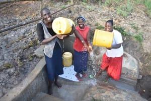 The Water Project: Mukhuyu Community, Namukuru Spring -  Clean Water