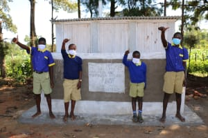The Water Project: Mungabira Primary School -  Boys At Their New V I P Latrines