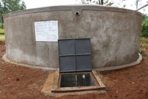 The Water Project: Mungabira Primary School -  Clean Water Flowing
