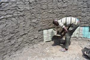 The Water Project: Mungabira Primary School -  Doing The Walls