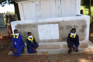 The Water Project: Mungabira Primary School -  Girls At Their New V I P Latrine