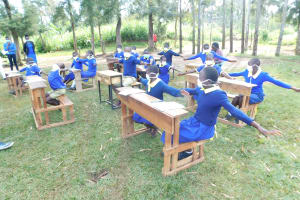 The Water Project: Mungabira Primary School -  How To Check Physical Distance