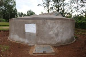 The Water Project: Mungabira Primary School -  New Rain Tank