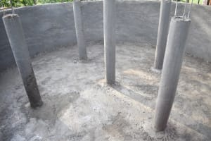 The Water Project: Mungabira Primary School -  Pillars To Surpport The Dome