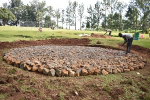 The Water Project: Mungabira Primary School -  Setting Up Of Foundation