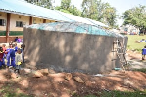 The Water Project: Mungabira Primary School -  Setting Up Of The Dome