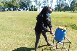 The Water Project: Mungabira Primary School -  Trainer Adelaide Showing Steps