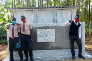 The Water Project: Epanja Secondary School -  Boys New V I P Latrine