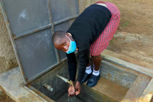 The Water Project: Epanja Secondary School -  Clean Water Flowing