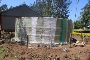 The Water Project: Epanja Secondary School -  Construction Of Rain Water Tank