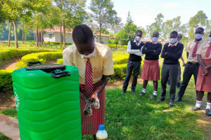 The Water Project: Epanja Secondary School -  Hand Washing Session