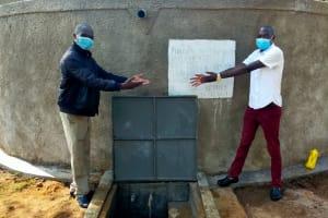 The Water Project: Epanja Secondary School -  Handing Over Rain Tank
