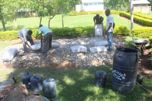 The Water Project: Epanja Secondary School -  Laying Foundation