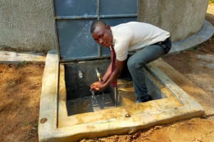 The Water Project: Epanja Secondary School -  Philip L Enjoys Water