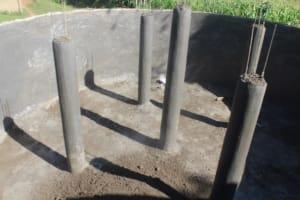 The Water Project: Epanja Secondary School -  Setting Up Of Pillars
