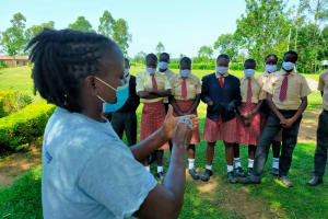 The Water Project: Epanja Secondary School -  Trainer Adelaide Hand Washing