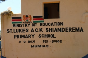 The Water Project: ACK St. Luke's Shanderema Primary School -  Sign