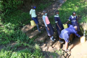 The Water Project: ACK St. Luke's Shanderema Primary School -  Students Collecting Water