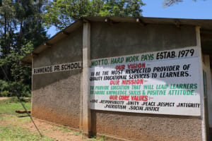 The Water Project: Bumwende Primary School -  School Sign