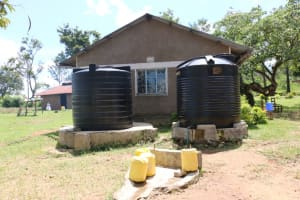 The Water Project: Bumwende Primary School -  Small Water Tanks