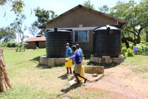 The Water Project: Bumwende Primary School -  Students Carrying Water