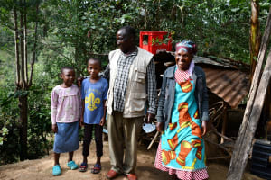 The Water Project: Kyamwau Community B -  Keilo Musimi And His Family