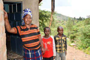 The Water Project: Kyamwau Community B -  Esther Mueni And Her Children