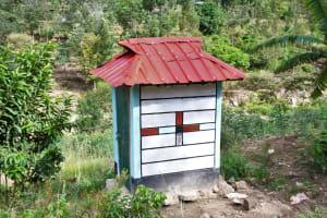 The Water Project: Kyamwau Community B -  Latrine