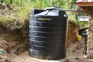 The Water Project: Kyamwau Community B -  Small Rainwater Tank At Home