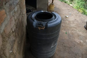The Water Project: Kyamwau Community B -  Water Storage Tank At Home
