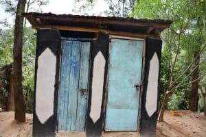 The Water Project: Kyamwau Community C -  Latrine