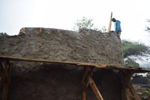 The Water Project: Kikumini Boys Secondary School -  Beginning Work On Roof